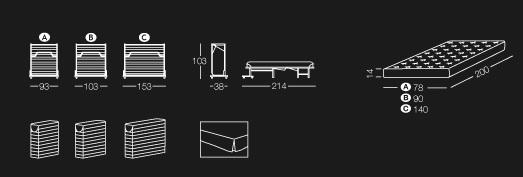 Meuble lit Paul Milano Bedding dimensions