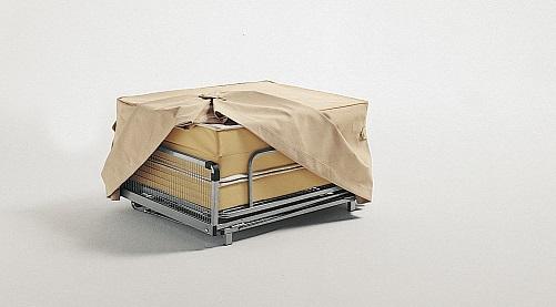 pouf de rangement décapotable Milano linge de lit cabriolet vertigineux Milano