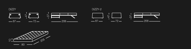 Pouf lit Dizzy dimension