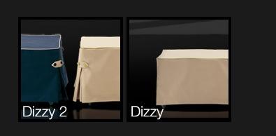 Pouf lit Dizzy finitions