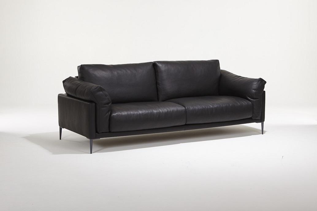 Canapé Beaubourg Burov en cuir noir