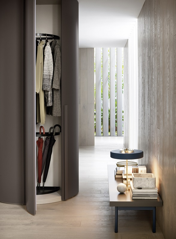 armoire de rangement alfa incurv e novamobili vestibule paris4 vestibule paris. Black Bedroom Furniture Sets. Home Design Ideas