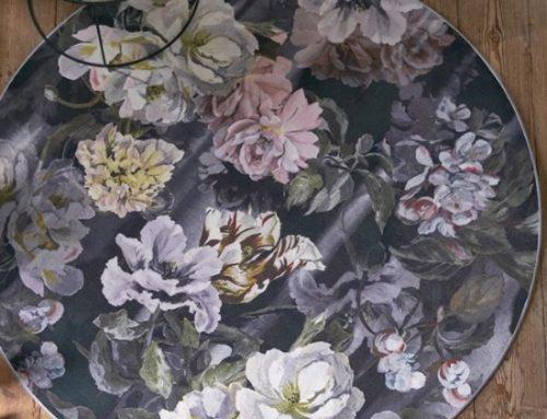 TAPIS DELFT FLOWER NOIR Designer Guild