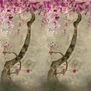 papier peint designers guild shinsha scene blossom