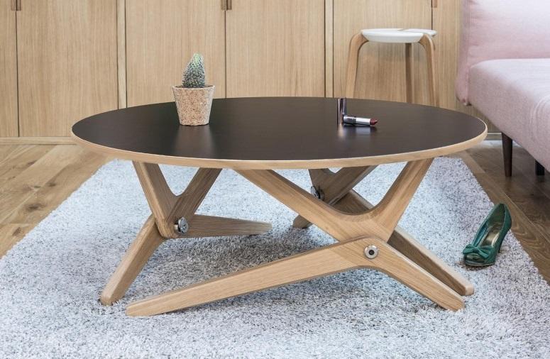 Table basse relevable Classique - Noir sidéral