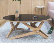 Table basse relevable classique noir